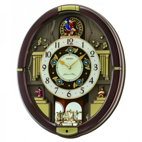 Seiko Danube Musical Wall Clock QXM488BRH - Arlex Jewelry, Watches ...