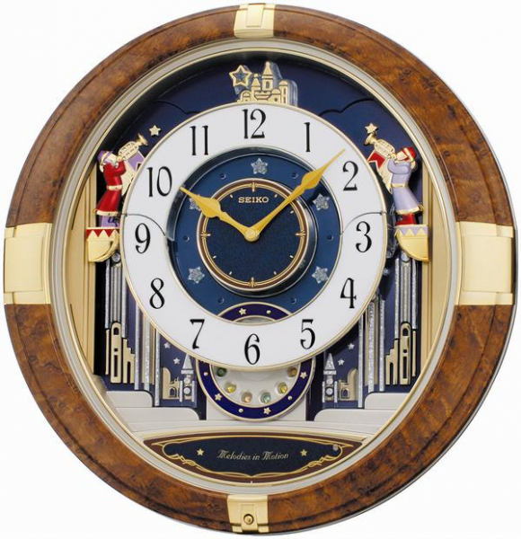 Seiko Melodies In Motion - Musical Wall Clock QXM228BRH ...