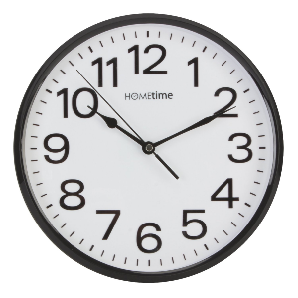 Bold Classic Quartz Wall Clock Bold Arabic Numbers, Non Ticking Silent ...