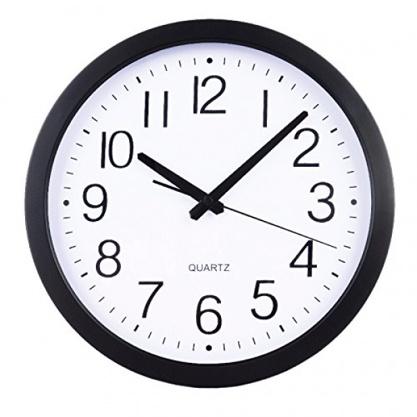 HomeFlav 11.75 Non-ticking Silent Quartz Wall Clock - digital, modern ...