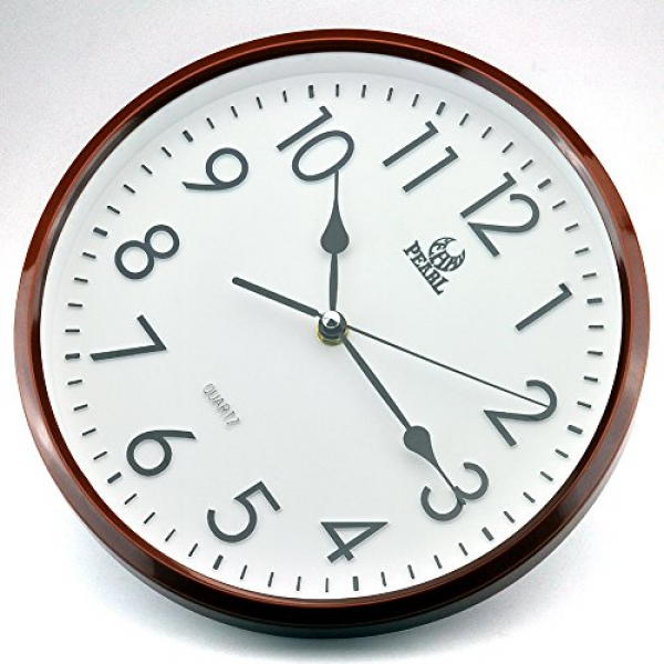 Non Ticking Silent Quartz Analog Digital Wall Clock: Vintage Wall ...