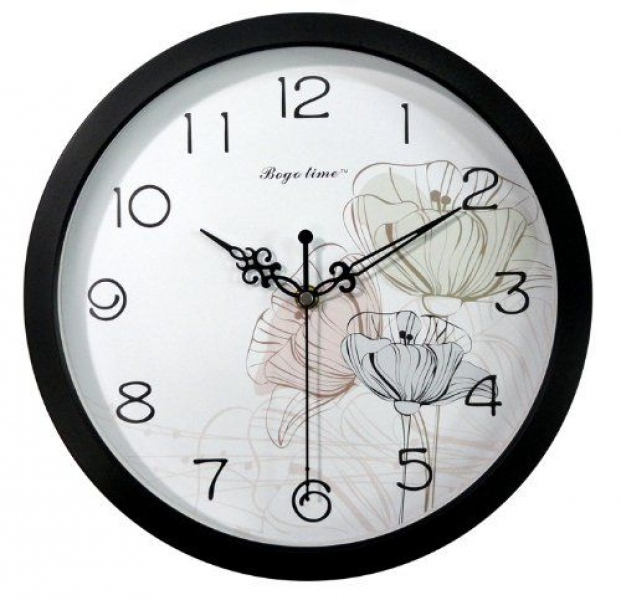 Gardenesque Round 12-inch Non Ticking Ultra Silent Wall Clock ...