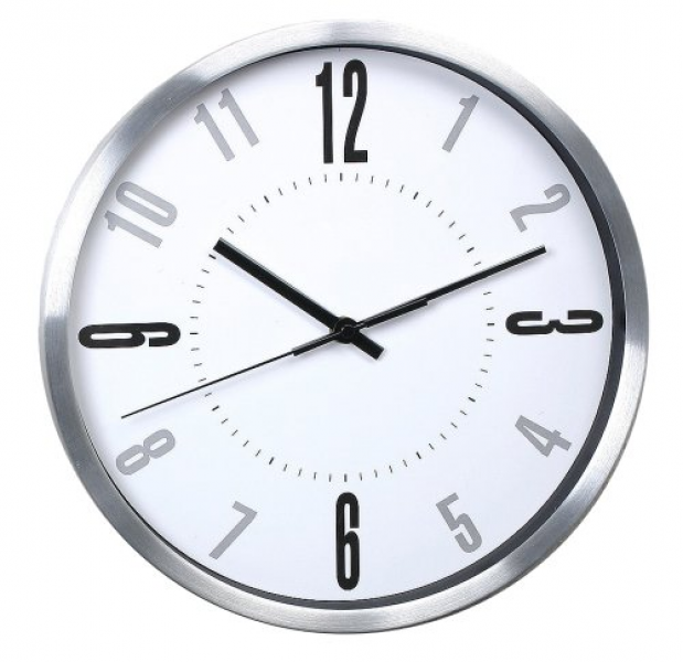 ... Round 12-inch Non Ticking Ultra Silent Wall Clock... - Top-clocks.com