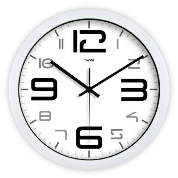 Round 12-inch Non Ticking Ultra Silent Analog Modern Wall Clock (12 ...
