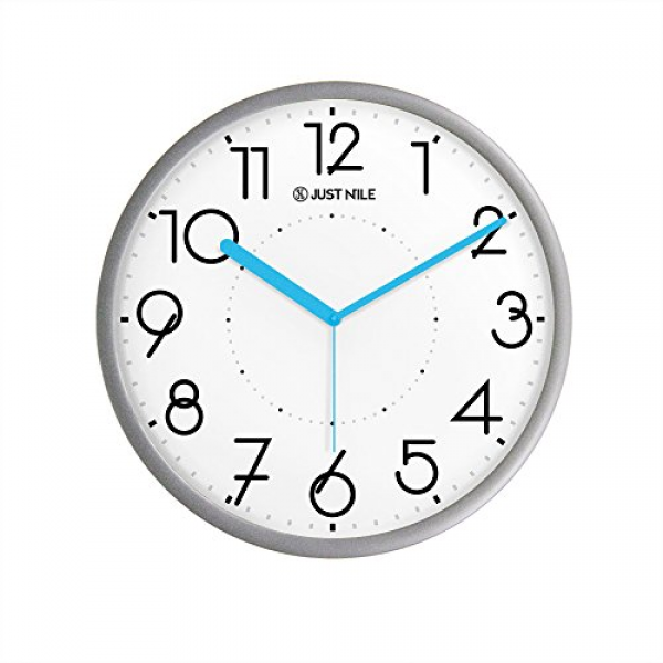 ... Ultra Silent Fruit Lemon Quartz Round Wall...: Modern Wall Clocks