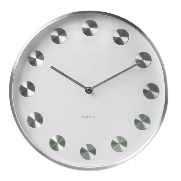 Karlsson Brushed Metal Wall Clock