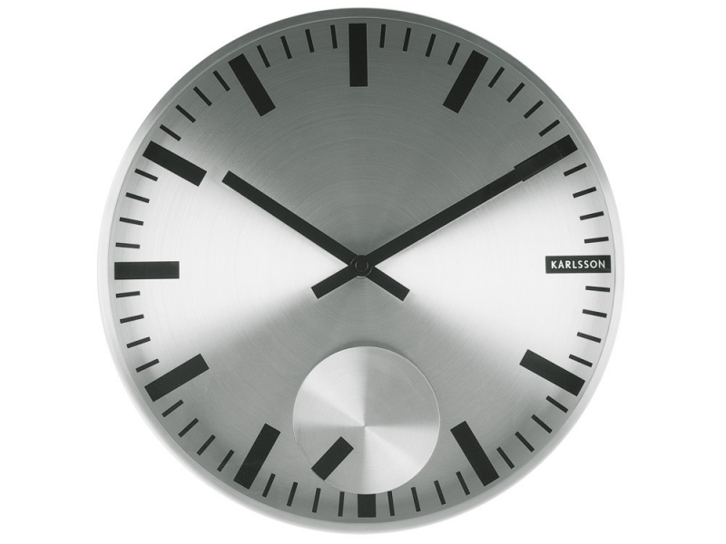 ... › Brands › Karlsson › Karlsson Moving Index Steel Wall Clock