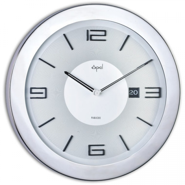 16 Stainless Steel Round Case Wall Clock