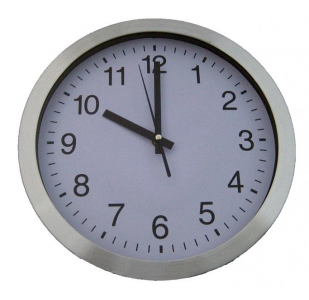 Stainless Steel Wall Clock 30cm Diameter