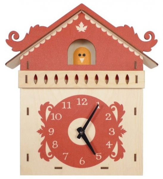 Art Wall Wooden Clock, Cuckoo - Contemporary - Clocks - by My Sweet ...