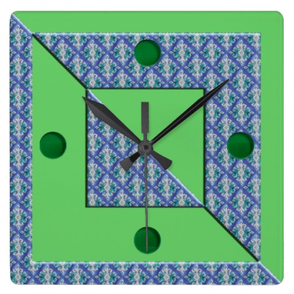 Contemporary Modern Art Wall Clock | Zazzle