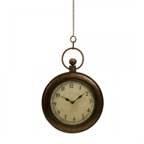 ... Antique-Style Oversized Pocket Watch Hanging Wall Clock 45 Clocks
