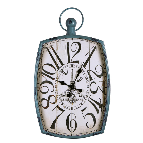 ... Green-Blue Iron Vintage-Inspired Pocket Watch Style Wall Hanging Clock