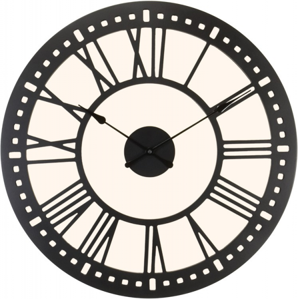 River City Clocks - Indoor Black Tower Wall Clock with Cream ...