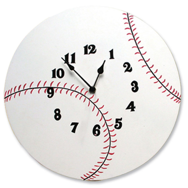 Baseball Clock by Trend Lab