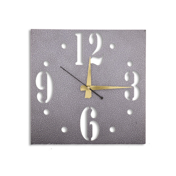 ... Wall Clocks :: Silver Finish Antique Square Shaped Designer Wall Clock