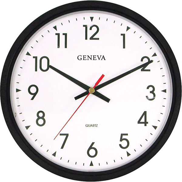 ... Commercial Wall Clocks 3980GG Black 14 Quartz Analog Wall Clock