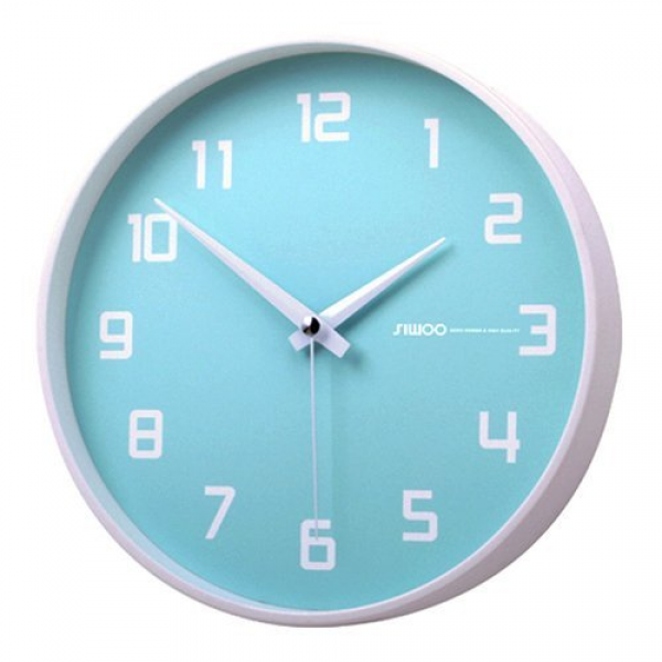 Luminous Blueberry Non-ticking Silent Wall Clock Baby Blue from ...