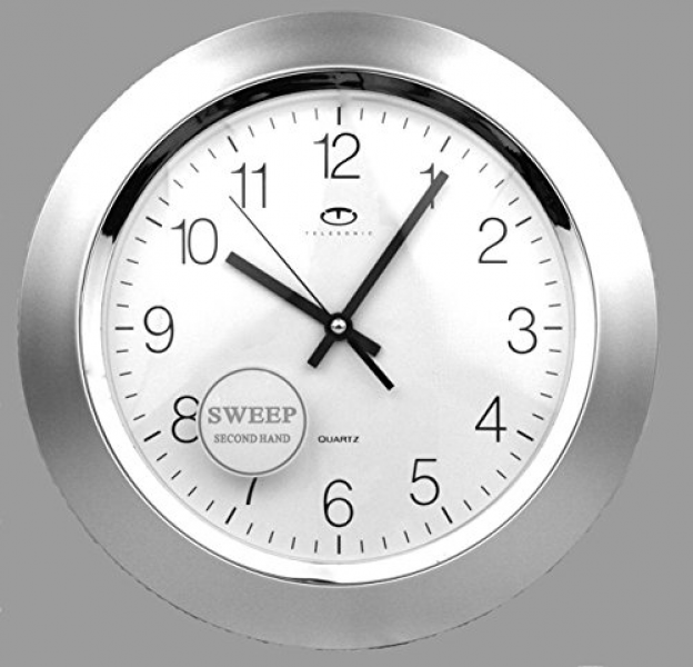 ... about Silver Quartz Wall Clock with Quiet Sweep Second Hand New