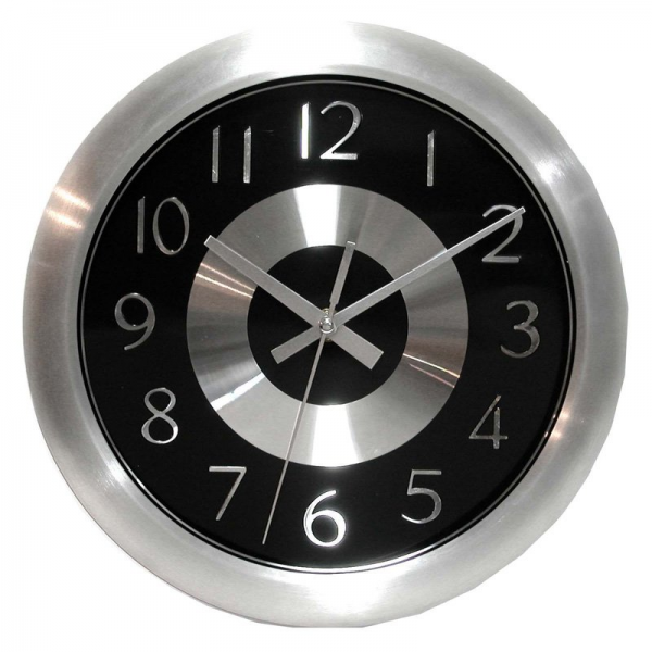... Mercury Black 10-Inch Wall Clock - Wall Clocks at Hayneedle