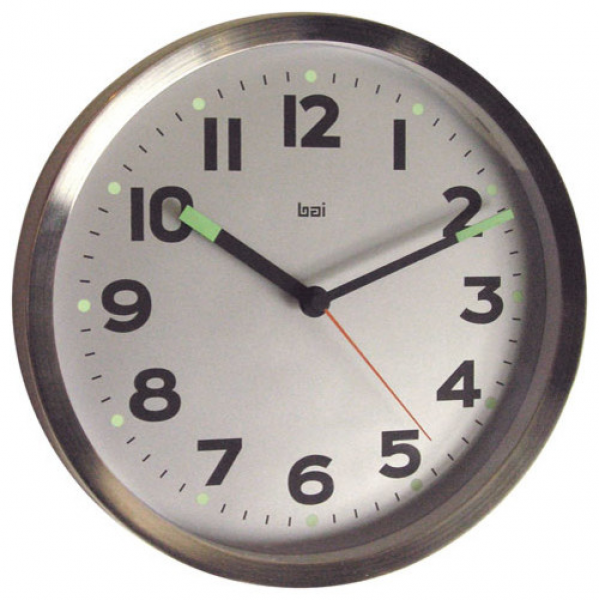 Silver 10-Inch Brushed Stainless Steel Wall Clock - Modern - Clocks ...