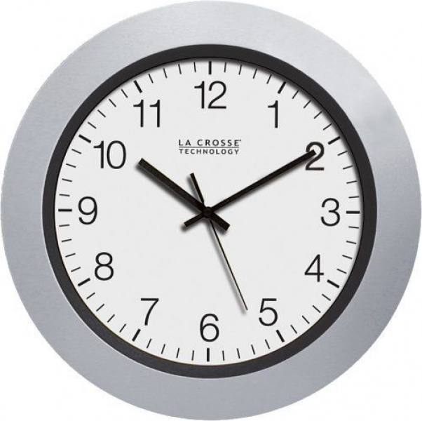 New La Crosse Technology WT 3102s 10 inch Atomic Analog Wall Clock ...