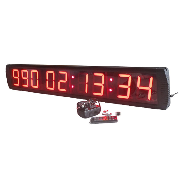 Giant Large LED Countdown/up Clock 4 High Character Countdown Timer ...