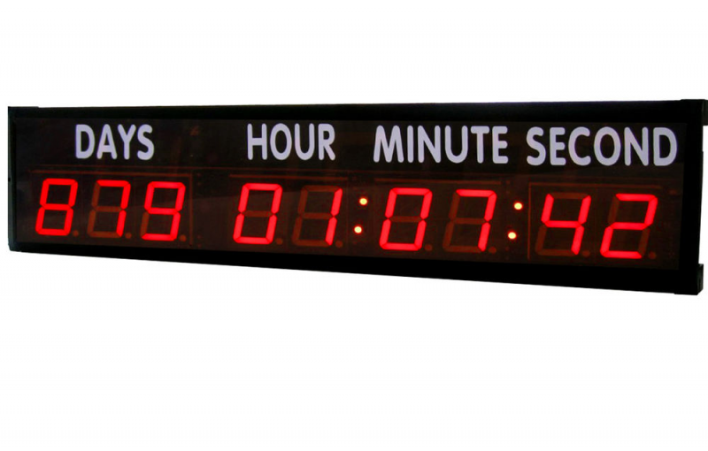 Large Red LED Countdown Timer Count Down Up Days for Sports ...