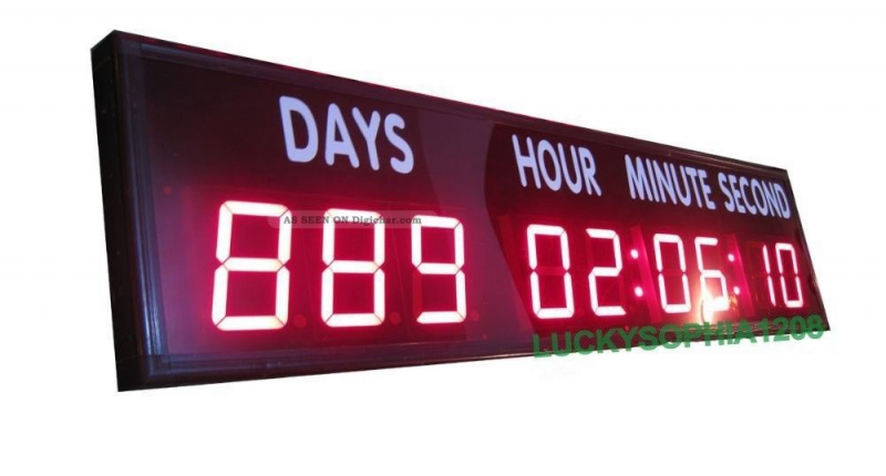 Large Digital Led Countdown Clock Countdown/ Up Days Timer For ...