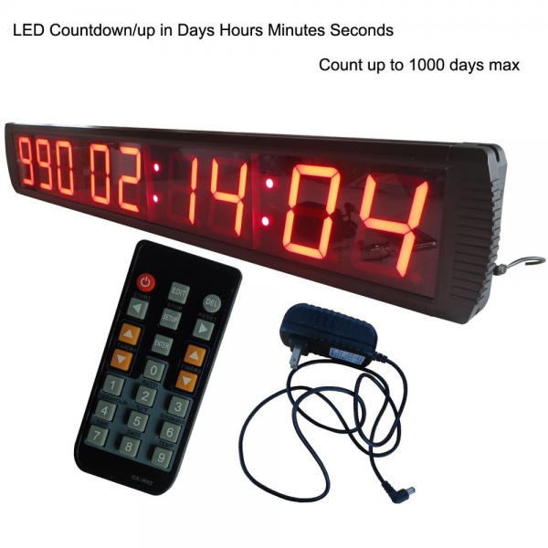 Giant Large LED Countdown Up Clock 4 High Character Countdown Timer ...