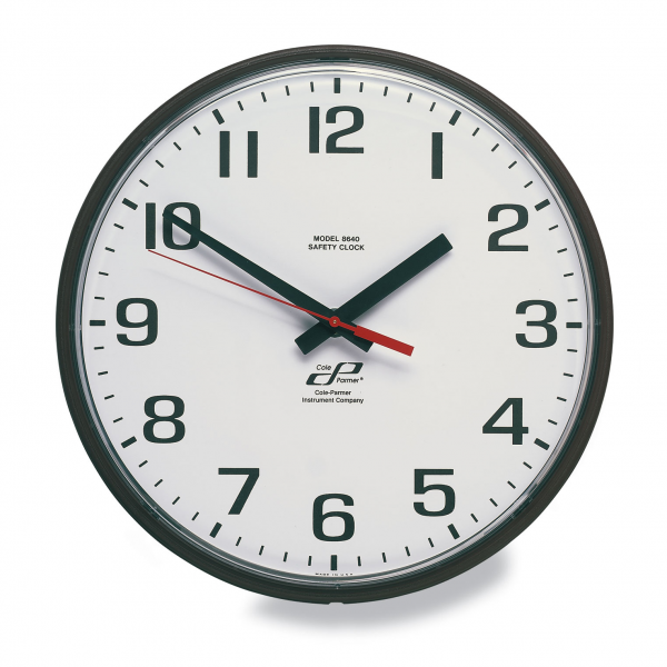 ... only Outdoor Analog Wall Clock Black Frame White Face Battery Operated