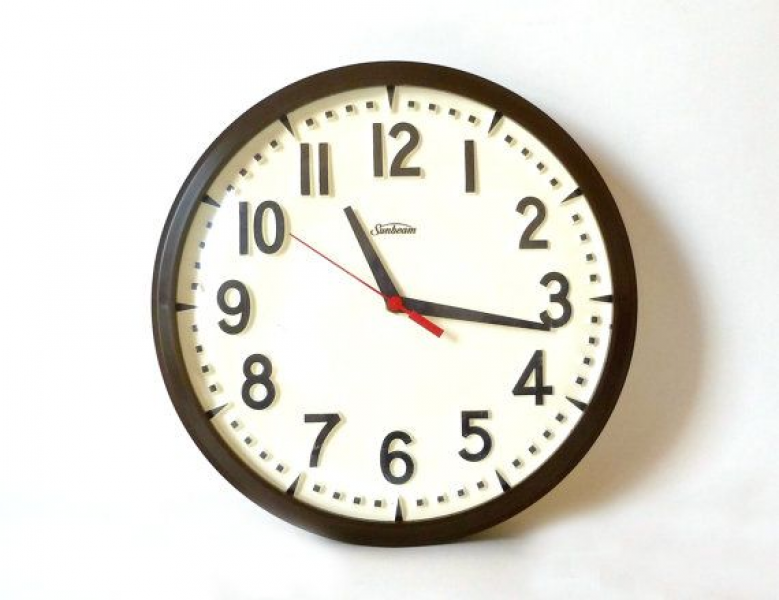 Sunbeam Wall Clock … Battery Operated, White Clock, Plastic Clock ...
