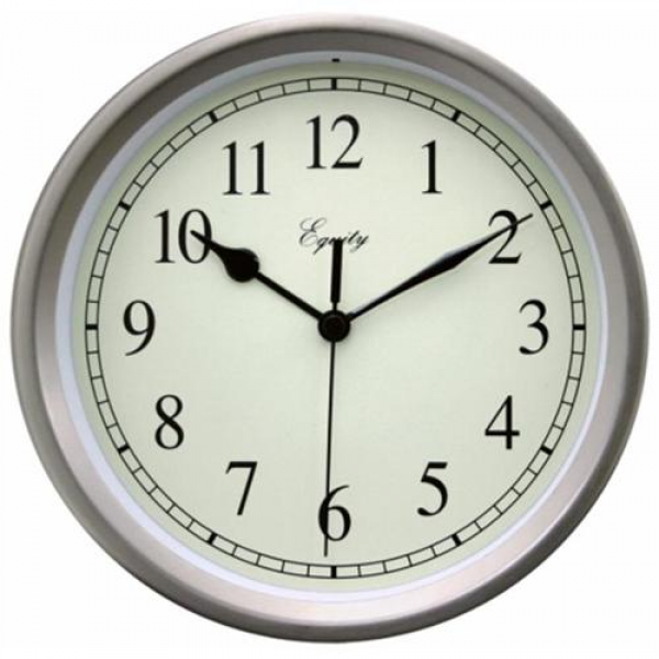 ... By La Crosse 28283 8 inch Brushed Titanium Battery Operated Wall Clock