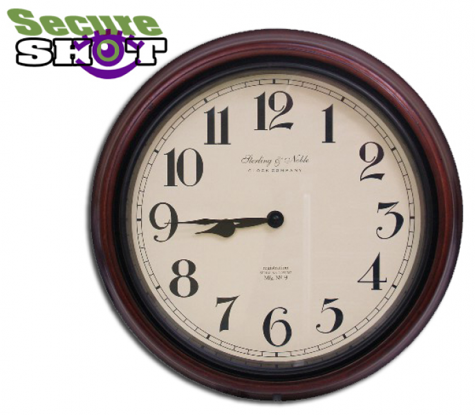 PGSSCWCC SecureShot Battery Powered cordless Wall Clock