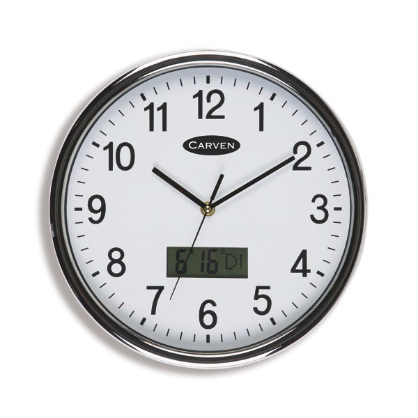 ... date that can be wall mounted. Carven LCD Date/Time Wall Clock