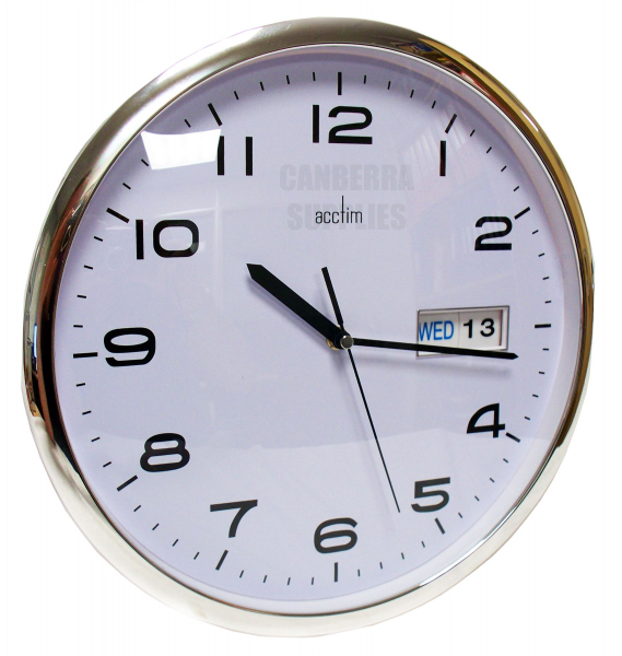 acctim 21027 supervisor office day date wall clock acctim wall clock ...