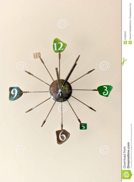 Modern Wall Clock Stock Image - Image: 24385031