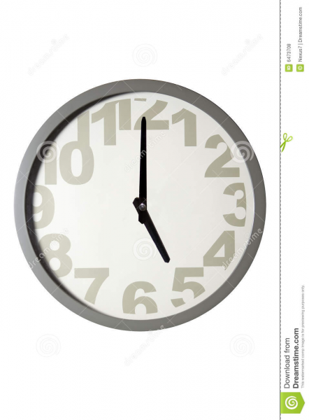 Modern Wall Clock Royalty Free Stock Photos - Image: 6473708