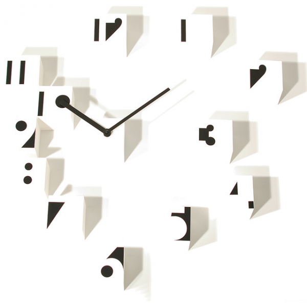 RND Time Optical White Wall Clock contemporary-wall-clocks