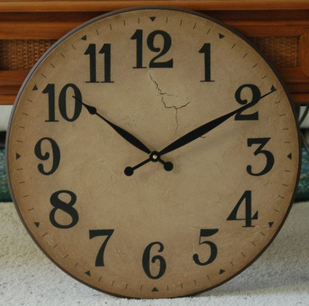... www.etsy.com/listing/92460277/18-inch-large-wall-clock-antique-rustic