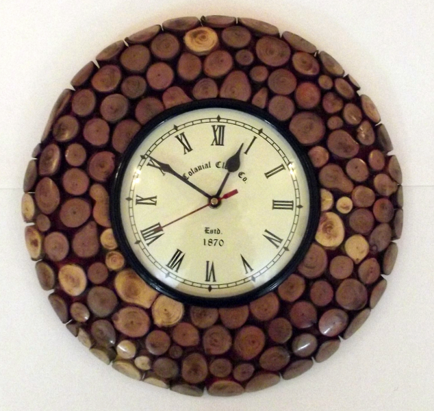 Shop Handmade Wooden Wall Clock Online - Shopclues