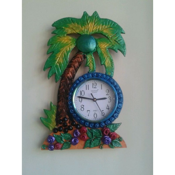 Handmade Wall Clock Made of Clay