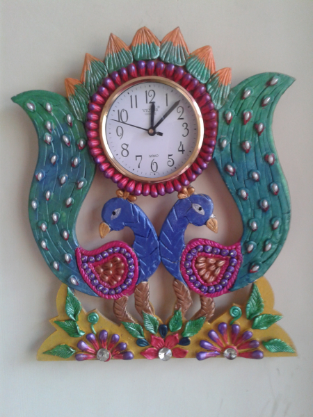 Beautiful Handmade Peacock wall clock at Best Prices - Shopclues ...