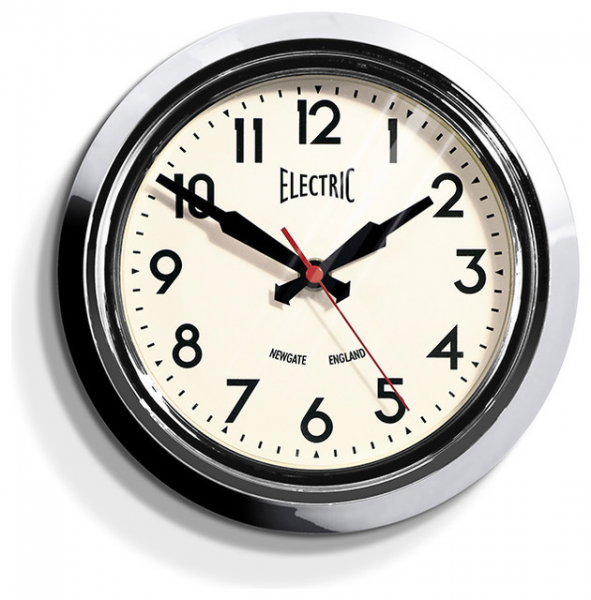 - Small Electric Wall Clock Polished Aluminum - Modern - Wall Clocks ...