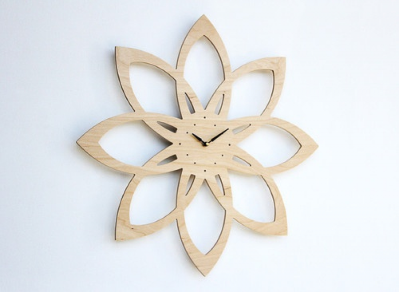 ... Modern Inspired Sunburst Clock by Uncommon Handmade contemporary