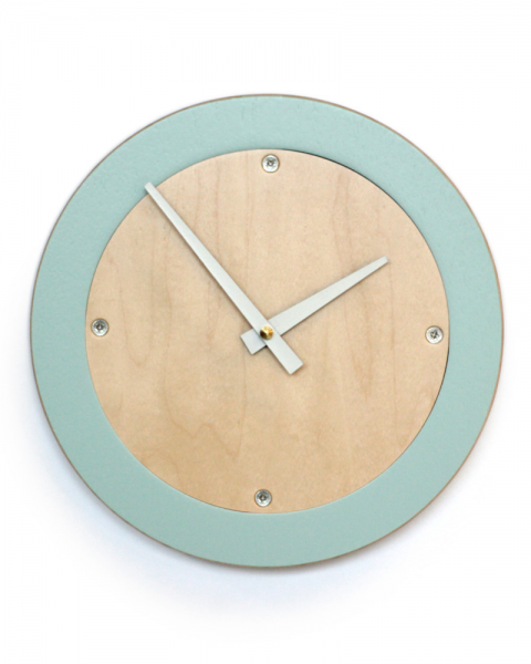 Modern Wall Clock in Vintage Blue by Uncommon Handmade