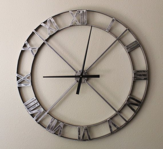 36 Wall Clock - Industrial Steel/Metal This clock is approx. 36 in ...