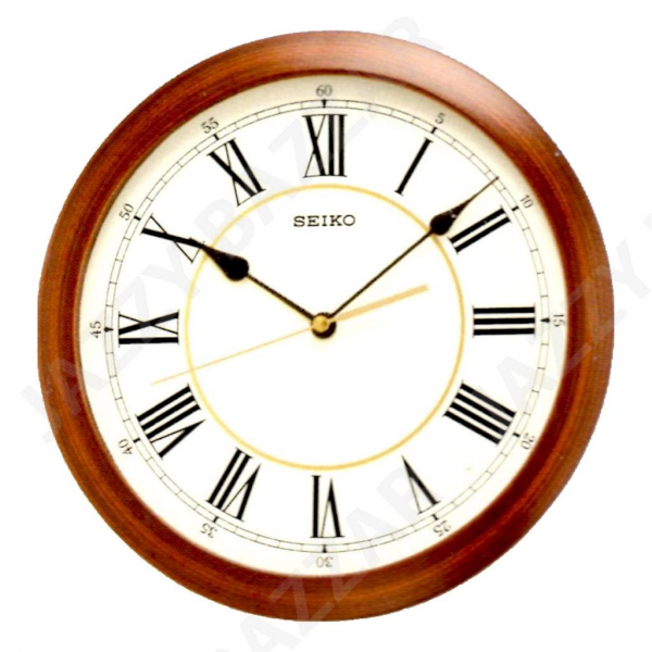 Details about SEIKO Wall Clock Wood Effect QXA597A Quiet Sweep Seconds ...