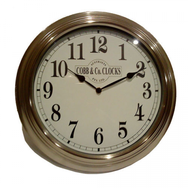 Cobb & Co Stainless Steel Wall Clock 38cm - On Sale Now!