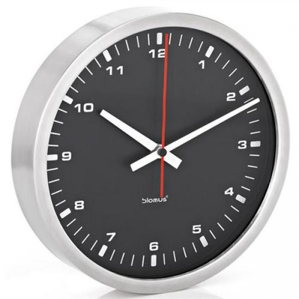 Blomus 63213 30cm Era Collection Wall Clock - Black - Walmart.com